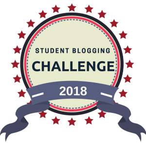 badge for our students blogging challenge 2018